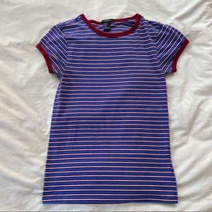 ✨4/$25 Forever 21 Blue Striped Tee